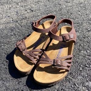 Like new brown ankle strap Birkenstock sandals